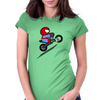ITSY BITSY SPIDER BIKER Womens Fitted T-Shirt