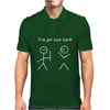 I've Got Your Back Stickman Stickmen Funny Slogan Humour Mens Polo