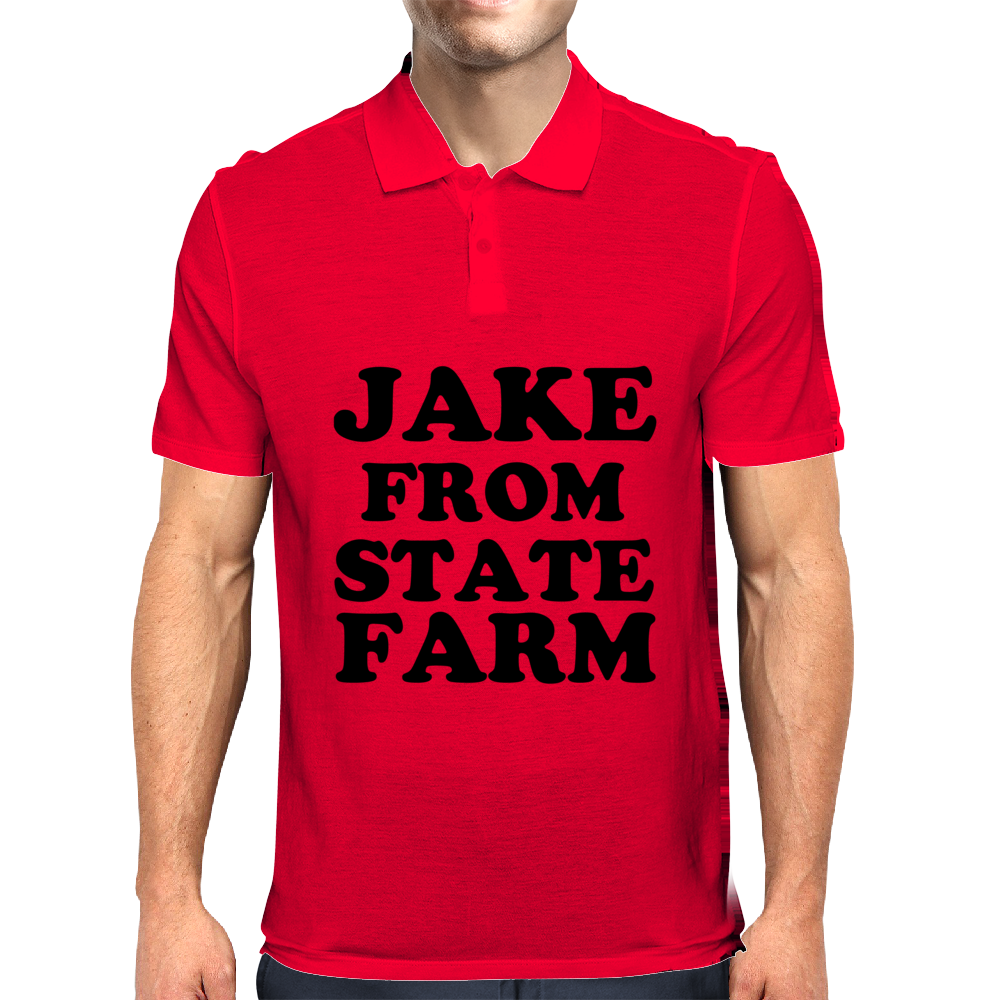 JAKE FROM STATE FARM Mens Polo