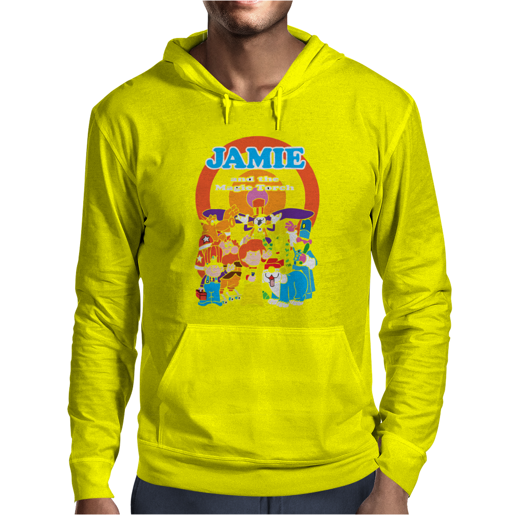 JAMIE AND THE MAGIC TORCH CULT FUNNY RETRO Mens Hoodie