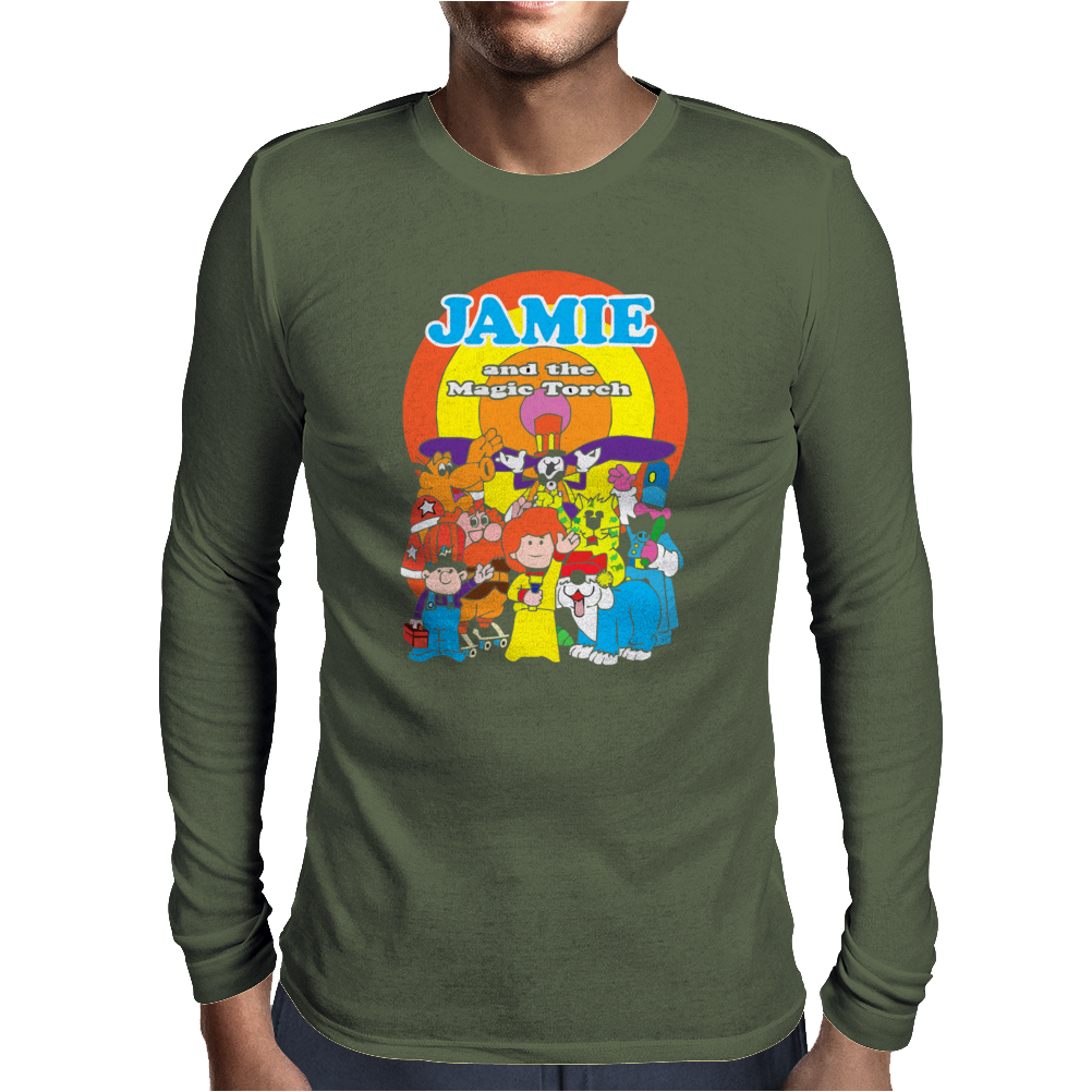 JAMIE AND THE MAGIC TORCH CULT FUNNY RETRO Mens Long Sleeve T-Shirt