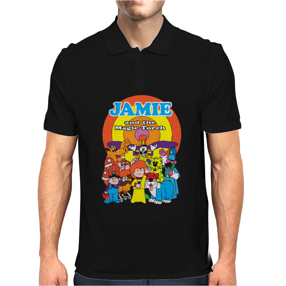 JAMIE AND THE MAGIC TORCH CULT FUNNY RETRO Mens Polo