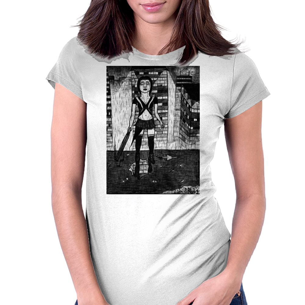 Japanese Assassin/Dominatrix/Accountant.2 Womens Fitted T-Shirt