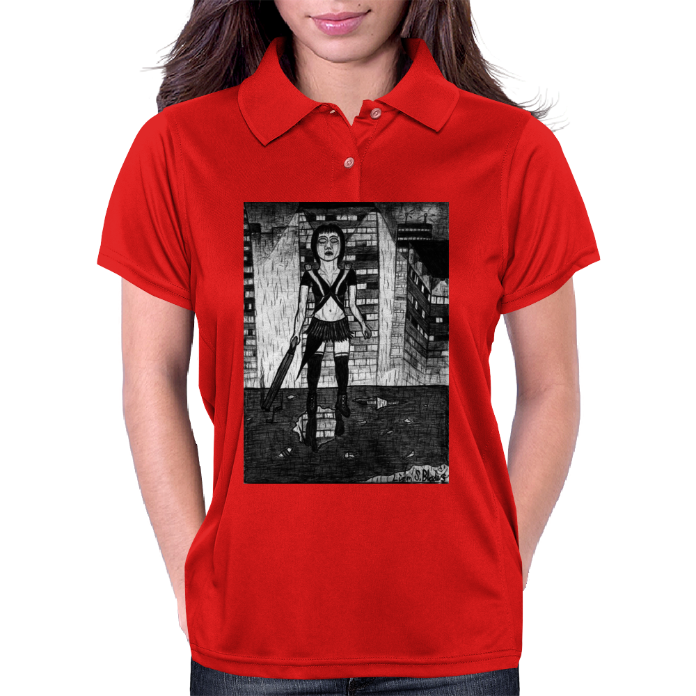 Japanese Assassin/Dominatrix/Accountant2 Womens Polo