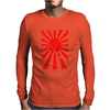 Japanese Rising Sun Flag V-Neck Mens Long Sleeve T-Shirt