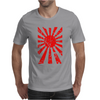 Japanese Rising Sun Flag V-Neck Mens T-Shirt