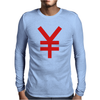 Japanese Yen Mens Long Sleeve T-Shirt