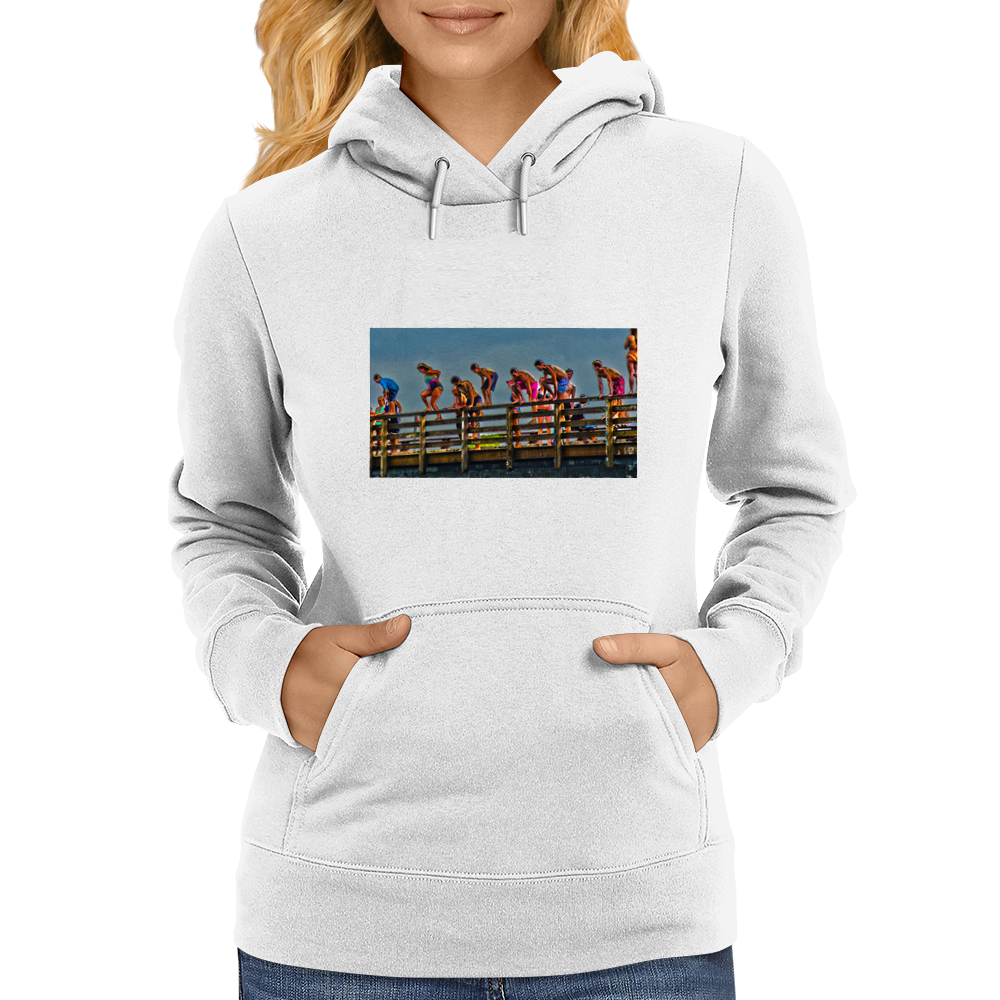 Jaws Bridge, Martha's Vineyard Womens Hoodie