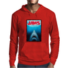 Jaws Inspired Great White Shark Mens Hoodie