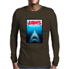 Jaws Inspired Great White Shark Mens Long Sleeve T-Shirt