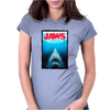 Jaws Inspired Great White Shark Womens Fitted T-Shirt