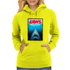 Jaws Inspired Great White Shark Womens Hoodie