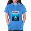 Jaws Inspired Great White Shark Womens Polo