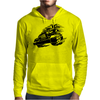 Jeep Emblem On Speed Mens Hoodie