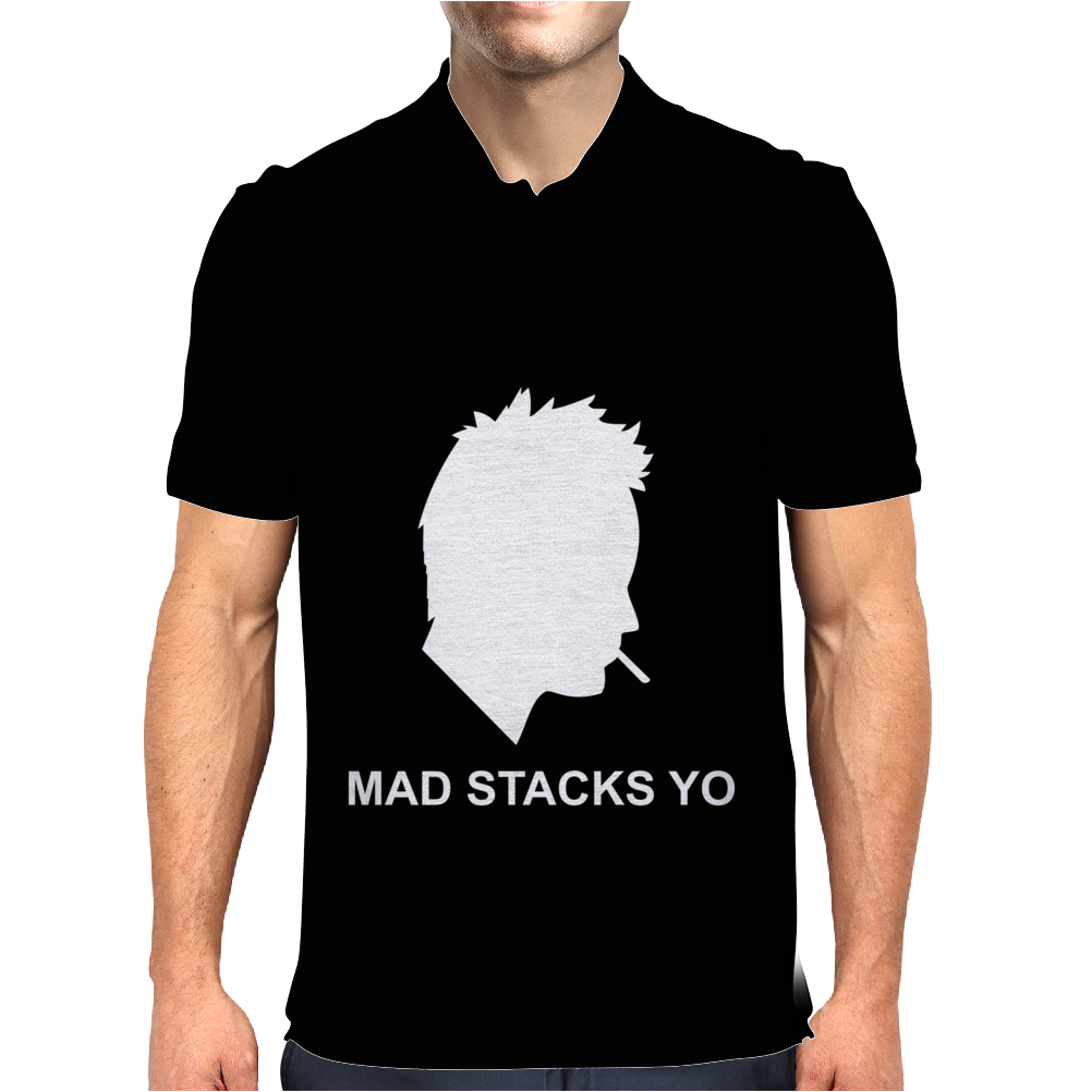 Jesse Pinkman Aaron Paul Mad Stacks Yo Breaking Bad Mens Polo
