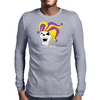 Jester Skull Mens Long Sleeve T-Shirt