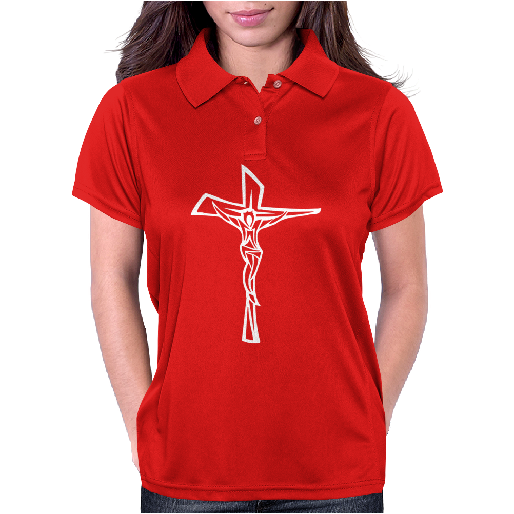 Jesus Christ Catholic Womens Polo