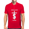 Jesus Saves I Spend funny statement Mens Polo