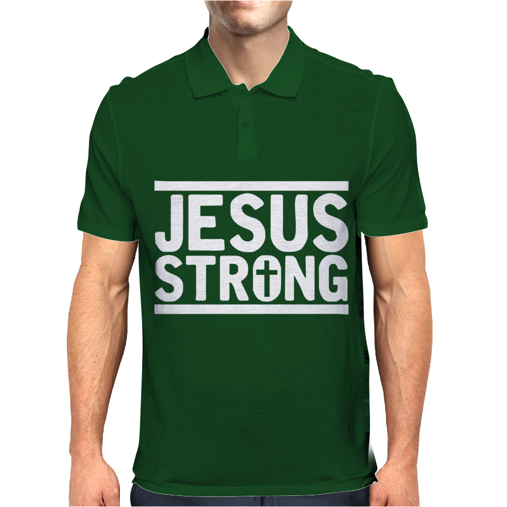 Jesus Strong Mens Polo