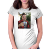 Jimmy drinking justin Womens Fitted T-Shirt
