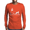 Johnnie Walk-Her (Walker) ~ Mens Funny Whisky Parody Mens Long Sleeve T-Shirt
