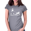Johnnie Walk-Her (Walker) ~ Mens Funny Whisky Parody Womens Fitted T-Shirt