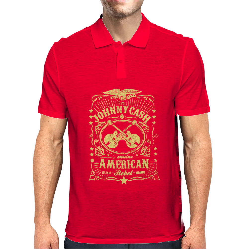 Johnny Cash American Rebel Mens Polo