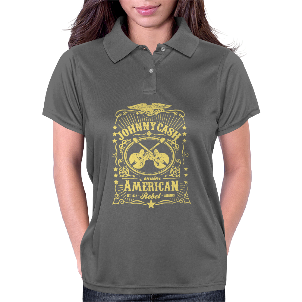 Johnny Cash American Rebel Womens Polo