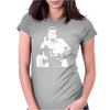 Johnny Cash Guitar Womens Fitted T-Shirt
