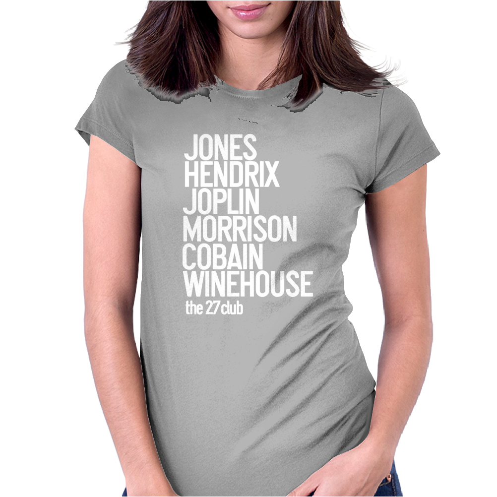 Jones Hendrix Morrison Joplin Cobain.. Womens Fitted T-Shirt