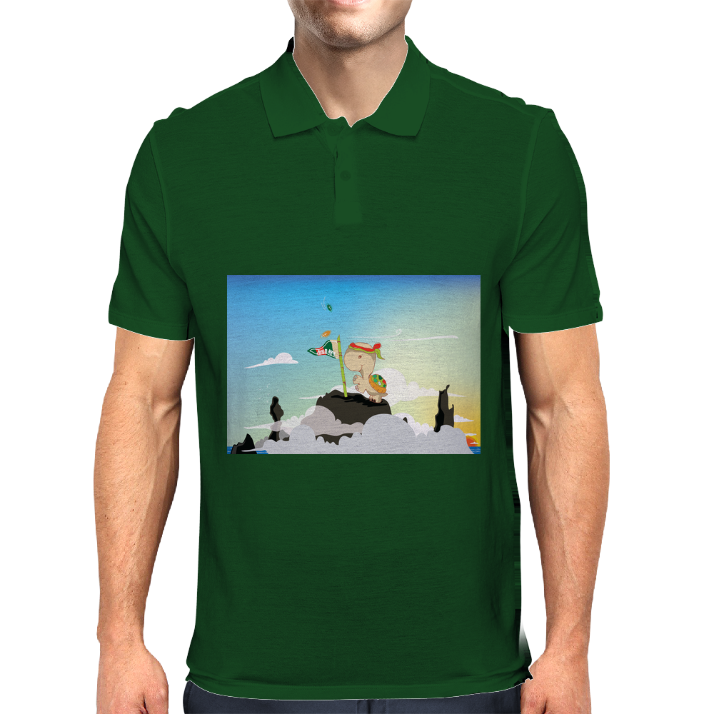 Journey with Turtle Mens Polo