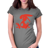 Jozef Rabbit Red Womens Fitted T-Shirt