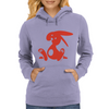 Jozef Rabbit Red Womens Hoodie