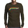 Jumping UNICORN RAINBOW STRIPE Mens Long Sleeve T-Shirt