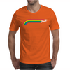 Jumping UNICORN RAINBOW STRIPE Mens T-Shirt