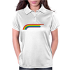 Jumping UNICORN RAINBOW STRIPE Womens Polo