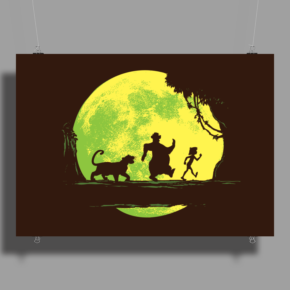 Jungle Moonwalk Poster Print (Landscape)