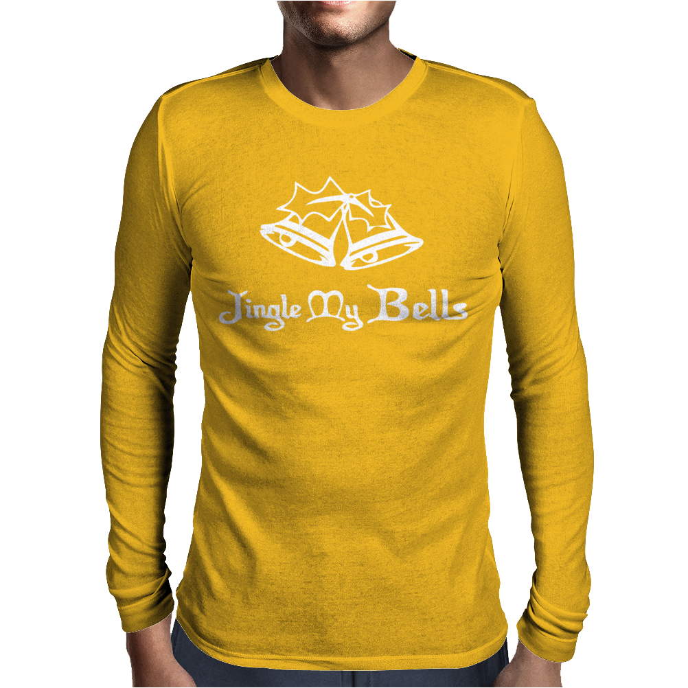 Jungle My Bell Funny Christmas Mens Long Sleeve T-Shirt