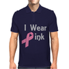 Junior's Breast Cancer Awareness I Wear Pink Mens Polo