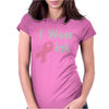 Junior's Breast Cancer Awareness I Wear Pink Womens Fitted T-Shirt