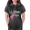 Junior's Breast Cancer Awareness I Wear Pink Womens Polo