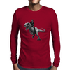 Jurrasic Abe (no background) Mens Long Sleeve T-Shirt