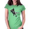 Jurrasic Abe (no background) Womens Fitted T-Shirt