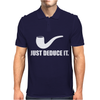 Just Deduce It  Funny retro sherlock holmes pipe vintage cool Mens Polo