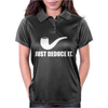 Just Deduce It  Funny retro sherlock holmes pipe vintage cool Womens Polo