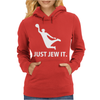 Just Jew It  Funny Comic Religious Comedy Sport Womens Hoodie