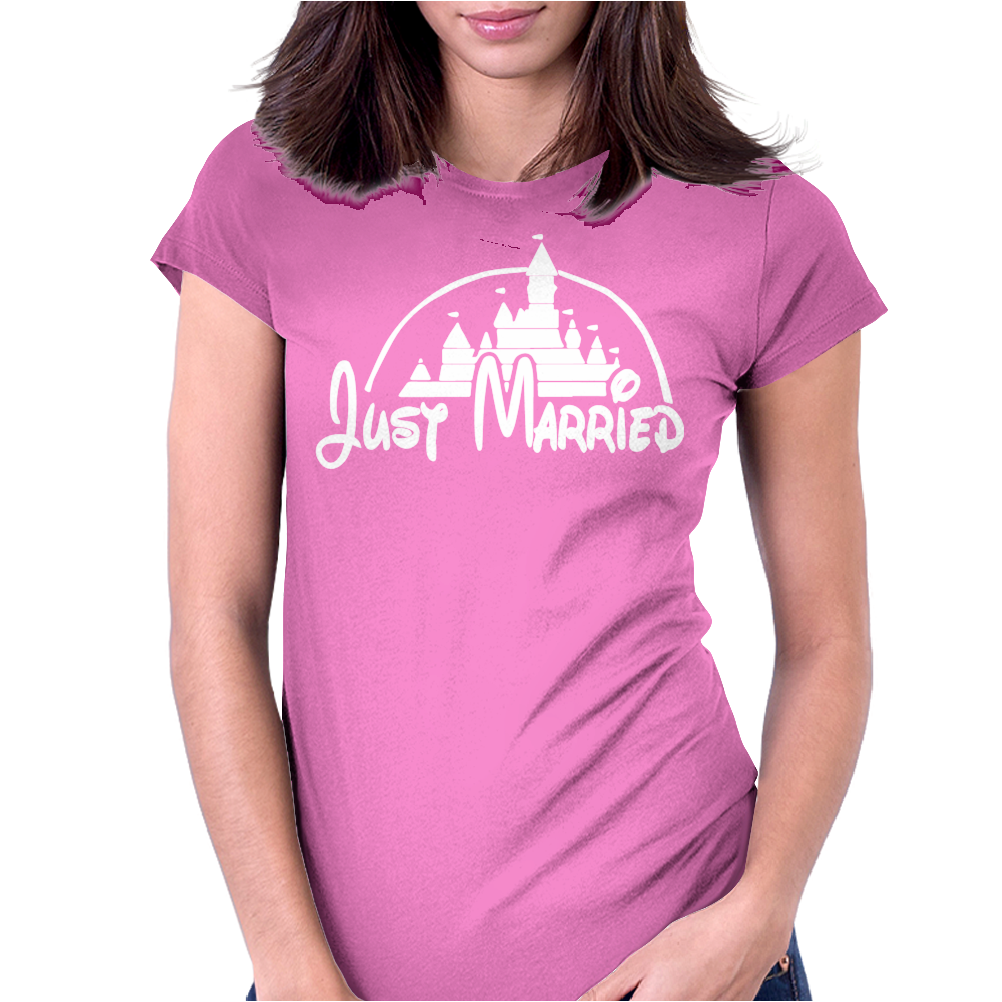 Just Married Disney Womens Fitted T-Shirt