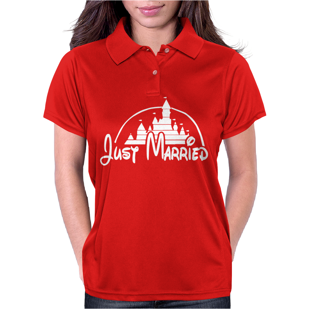 Just Married Disney Womens Polo