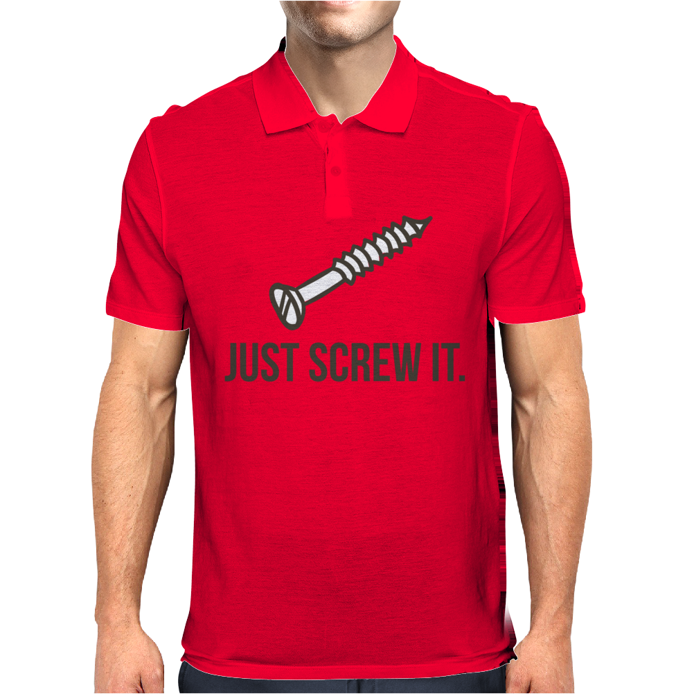 Just Screw It Funny DIY Mens Polo