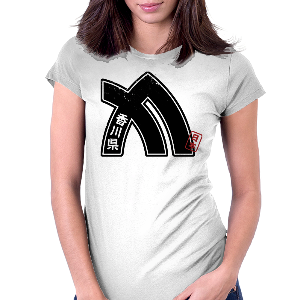 KAGAWA Japanese Prefecture Design Womens Fitted T-Shirt